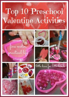 10 Valentines Preschool Activities Sensory, Learning & Play {Top Ten Valentines Lists}