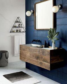 """3,675 curtidas, 28 comentários - Casa Vogue Brasil (@casavoguebrasil) no Instagram: """"Minimalista, porém ousado, este banheiro criado pela CB2 (@cb2) foi eleito o nosso #décordodia de…"""""""