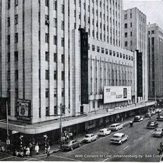 His Majesty's Theatre at the film of My Fair Lady. His Majesty's Theatre was… Johannesburg City, Union Of South Africa, Art Deco Buildings, My Family History, Countries Of The World, Public Art, Old Photos, Live, Organisation