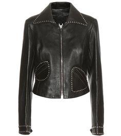 ¡Cómpralo ya!. Embellished Leather Jacket. Black Embellished Leather Biker Jacket By Marc Jacobs , chaquetadecuero, polipiel, biker, ante, anteflecos, pielflecos, polipielflecos, antelina, chupa, decuero, leather, suede, suedette, fauxleather, tassel. Chaqueta de cuero  de mujer color negro de Marc jacobs.