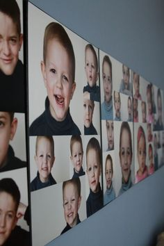 DIY GALLERY PHOTO WALL | make a stunning wall display on the cheap by adhering photo prints to canvas. step-by-step tutorial. #DIY #wall #art #photo #gallery