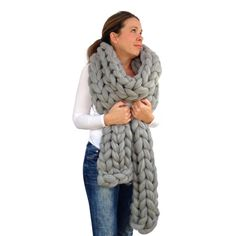 Chunky knitted Scarf 70 colours Giant by WoolCoutureCompany