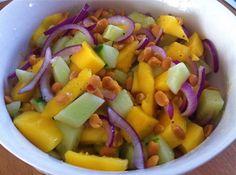 Super snel, super smaakvol! Komkommer en mango salade
