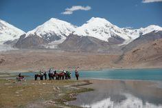 Lac Karakul en Chine de l'Ouest