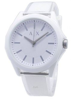 Features: Stainless Steel Case Polyurethane Strap Quartz Movement Mineral Crystal White Dial Analog Display Pull/Push Crown Solid Case Back Buckle Clasp Water Resistance Approximate Case Diameter: Approximate Case Thickness: White Watches For Men, Armani Watches For Men, Low Price Watches, Watch Brands, Stainless Steel Case, Fashion Watches, Bracelet Watch, Quartz, Mineral
