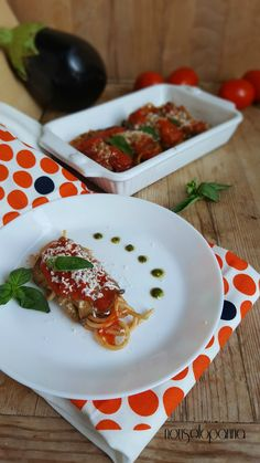 Involtini di melanzane con spaghetti integrali e 'Nduja