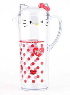 The #HelloKitty outdoor pitcher keeps guests smiling