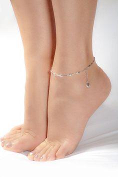32f238d53 Pulsera de tobillo de plata envío gratis Silver Ankle Bracelet