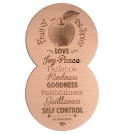 Fruit of the Spirit wall wooden plaque.