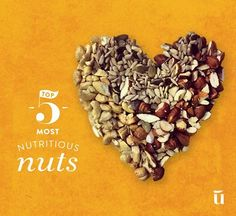 Still feeling a bit nutty after this week's full moon? Here's 5 nuts packed full of nutrition to balance you out #nuts #almond #walnut #cashew #pecan #pistachio