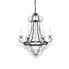 Katherine Chandelier | Arhaus Furniture - alot going on but its only $699