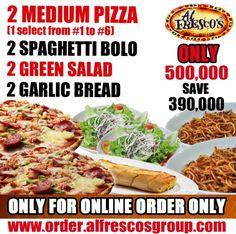 Khuyến mãi Al Fresco's phần ăn 2 Pizza cỡ vừa chỉ với 500.000VND