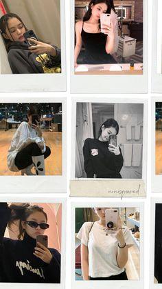 Kim Jennie, Blackpink Fashion, Korean Fashion, Yg Entertainment, Girl Emoji, Polaroid Photos, Black Pink Kpop, Blackpink Photos, Girl Photography Poses