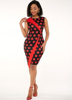 Size:S;Size:L;Size:M;Package X Dress;s Polyester, Spandex; Short African Dresses, Latest African Fashion Dresses, Women's Fashion Dresses, Elegant Outfit, Classy Dress, Dress Silhouette, Asymmetrical Dress, African Attire, Polka Dot