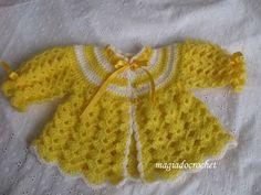 Crochet Magic: punto bajo en abrigos de bebé - nuevos colores para los modelos conocidos