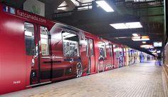 Metro in Montreal- FIAT 500 Canada wraps the subway.