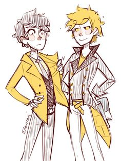more art reposts to the new account! Look at those dapper sirs