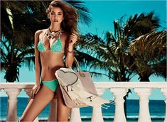 Barbara Palvin in Bikinis for Twin Set Beachwear Spring 2014 Campaign