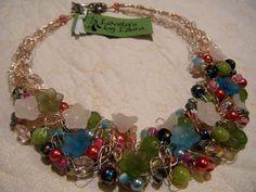 Collar Vintage alambre Floral de ganchillo por LovelysbyLaura