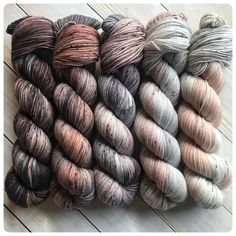 Fading Point Kit: Driftwood, hand dyed yarn