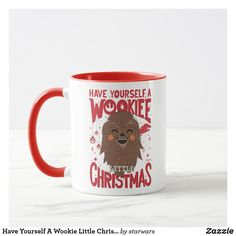 Have Yourself A Wookie Little Christmas Mug Star Wars Christmas, Christmas Mugs, Merry Little Christmas, Christmas Holidays, Star Wars Mugs, Star Wars Gifts, Star Wars Store, Star Wars Merchandise, Lifelong Friends
