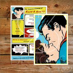 Superhero Wedding BRUNETTE Custom Superman Wedding Digital Invitation  Printable By Studio333Designs