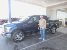 Mark Craig and the rest of us here at Court Street Ford would like to congratulate Steven Coy of Bradley on the purchase of his 2015 Ford F-150.  Thank you for your business Steven!