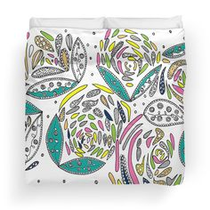 $172.84 CAD  Stylish White Floral king size duvet @ my redbubble shop : https://www.redbubble.com/people/jomanaromana/works/25014058-stylish-white-floral?p=duvet-cover&size=king