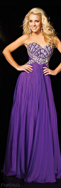 Tony Bowls Paris Pretty Purple Evening Gown