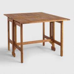 Wood St. Lucia Folding Balcony Table