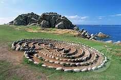Stone #Labyrinth -Troy Town, St. Agnes, Isles of Scilly, United Kingdom