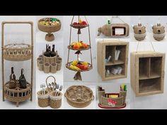 Sisal, Jute Crafts, Space Saving Storage, The Creator, Holiday Decor, Craft Ideas, Youtube, Home Decor, Jute