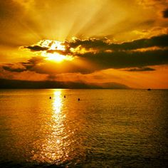 The BEST sunset in Loutraki!!!