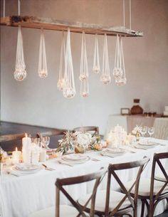 Unique wedding table set up and décor