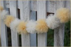 We are absolutely excited to share these tulle wedding decorations. Decorating with tulle is such a fabulous idea. Tulle decorations are gre. Tulle Pompoms, Tulle Balls, Tulle Flowers, Tulle Tutu, Tulle Wedding Decorations, Tent Decorations, Wedding Pom Poms, Do It Yourself Inspiration, Do It Yourself Wedding