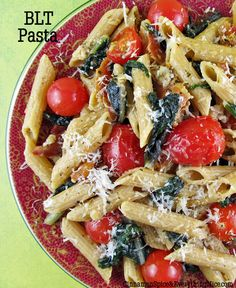 Bacon, Swiss Chard and Tomato Penne ..you could use kale or even spinach instead of swiss chard.