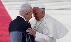 Israeli and Palestinian leaders held an unprecedented prayer meeting with Pope Francis Sunday, a gesture that could kick-start the peace process. Prayer Meeting, Catholic Priest, Peace On Earth, Pope Francis, Vatican, Worship, Religion, Gay, Culture