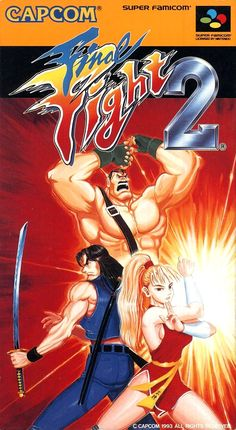 Final Fight 2 on Super Famicom - Capcom Retro Video Games, Video Game Art, Retro Games, V Games, Arcade Games, Marvel Vs, Super Nintendo, God Of War, Final Fight