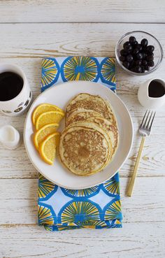 Banana and Chia Seed Blender Pancakes