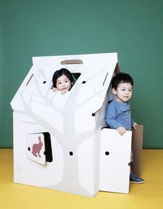 Our classic house by Studio Roof  #cardboard #kids #design #studioroof #playful #kidsonroof