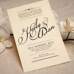 Printable Wedding Invitation & RSVP Postcard - Country Chic / Victorian. $50.00, via Etsy.