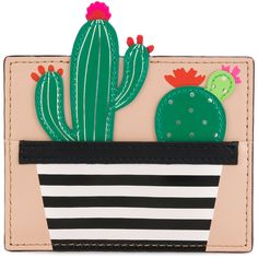 Kate Spade Cactus cardholder (26.500 HUF) ❤ liked on Polyvore featuring bags, wallets, kate spade bags, kate spade, genuine leather wallet, genuine leather bag and leather bags