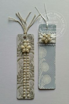 Bookmarks by Lisa Horton We would love these bookmarks from Lisa, wouldn't you? The mix of stamp design and embellishments make. Book Markers, Candle Sconces, Crafty, Card Ideas, Lisa, Gifts, Handmade, Inspiration, Tags