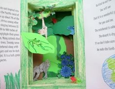 A tunnel book created by a student to commemorate Earth Day