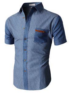 Doublju Casual Button-down Shirts Short Sleeve (KMTSTS019) #doublju