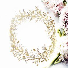 "Image of Oprah ""O"" Botanical Hand Cut Papercut"