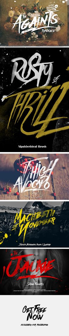 Againts Typeface - download freebie by PixelBuddha
