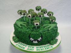 An 11-eyed #MonsterCake! #BirthdayCakes #ChildrensBirthdayCakes