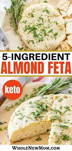 Strict Weight Loss Diet Looking for a vegan cheese alternative? Try this Easy Baked Almond Feta Cheese! Amazingly easy with only 6 ingredients! You will love this Vegan Cheese Recipe. You can also do it non-baked to make this a Raw Almond Feta too! Almond Cheese Recipe, Vegan Feta Cheese, Feta Cheese Recipes, Dairy Free Cheese, Almond Recipes, Beef Recipes, Real Food Recipes, Vegetarian Recipes, Whole30 Recipes