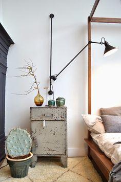 The Loft Amsterdam | The playing Circle | interior design inspiration | Vintage   Bed lamp   C-More |design + interieur + trends + prognose + concept + advies + ontwerp + cursus + workshops